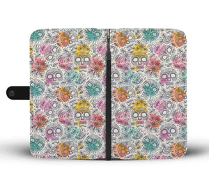 Watercolor Sugar Skull Phone Wallet - Hello Moa