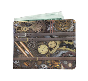 Steampunk Gear & Straps Men's Wallet - Hello Moa