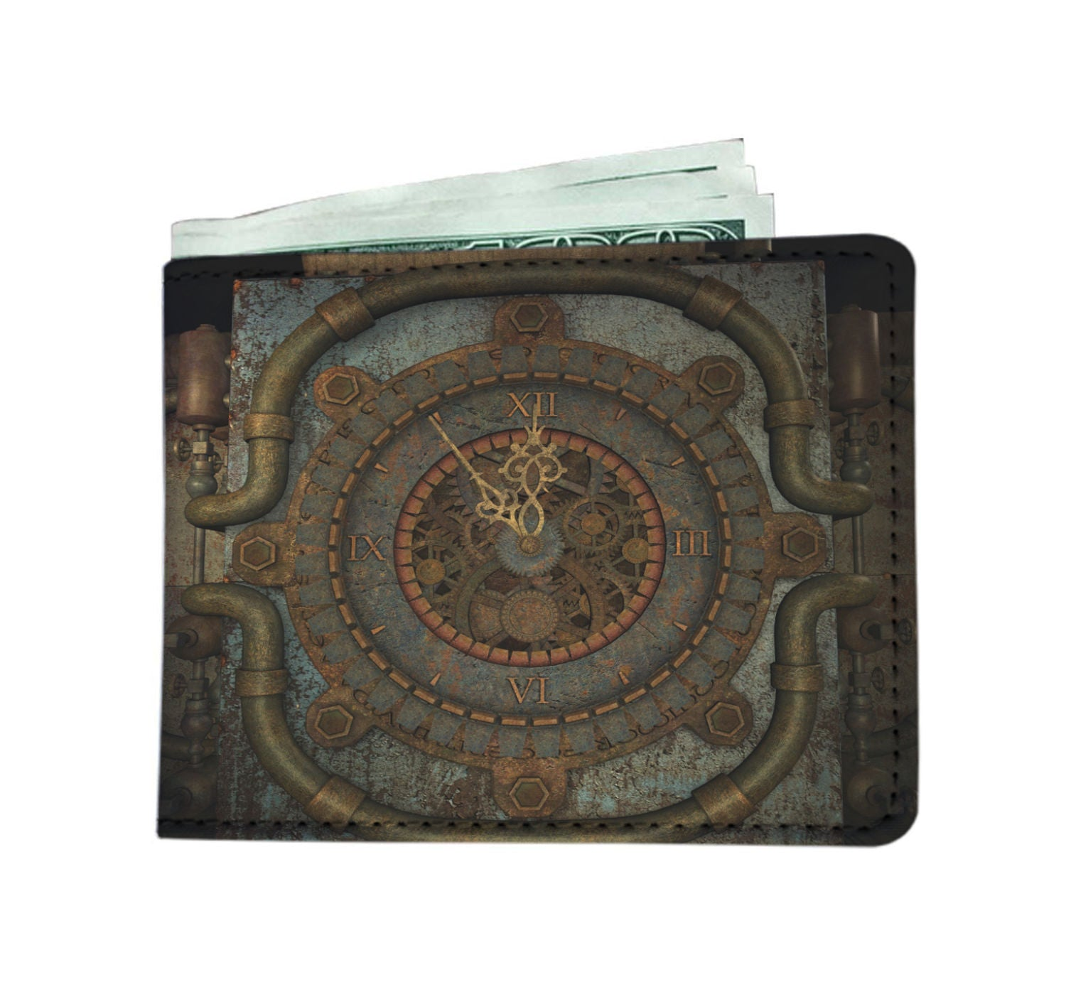 Vintage Clock Men's Wallet