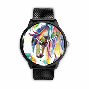 Watercolor II Horse Watch - Hello Moa