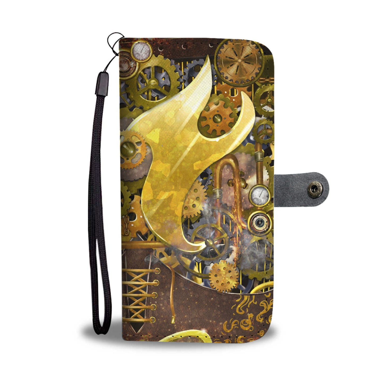 Classic Steampunk Phone Wallet - Hello Moa