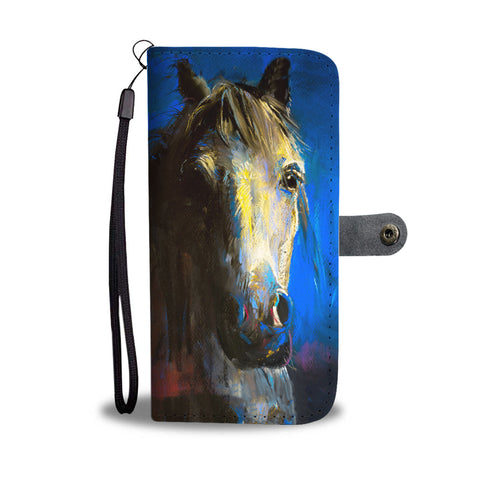 Blue Horse Face Phone Wallet