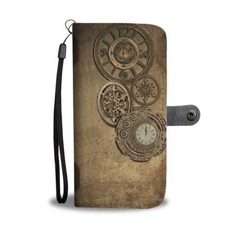 Brass Clock Phone Wallet