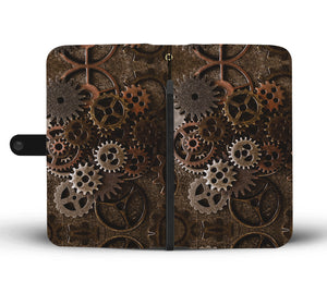 Brass Cogs Phone Wallet - Hello Moa