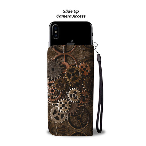 Image of Brass Cogs Phone Wallet