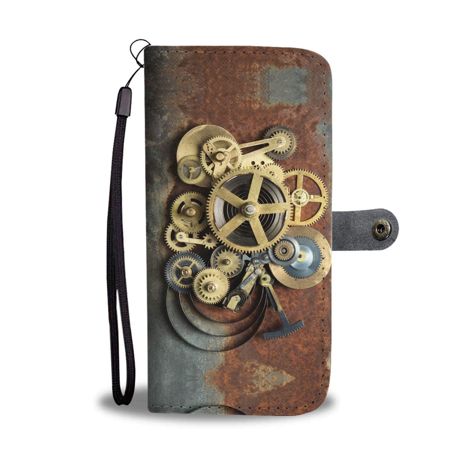 Rusted Cogs Phone Wallet - Hello Moa