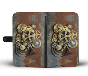 Rusted Cogs Phone Wallet