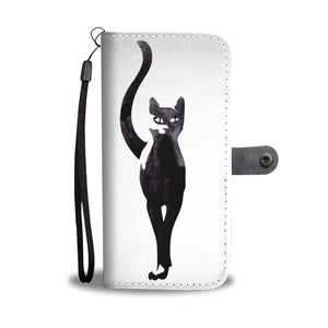 Black Cat Phone Wallet