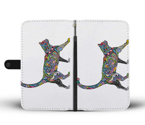 Floral Cat Phone Wallet