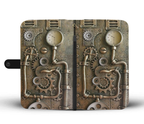 Steampunk Gas Pipe Phone Wallet