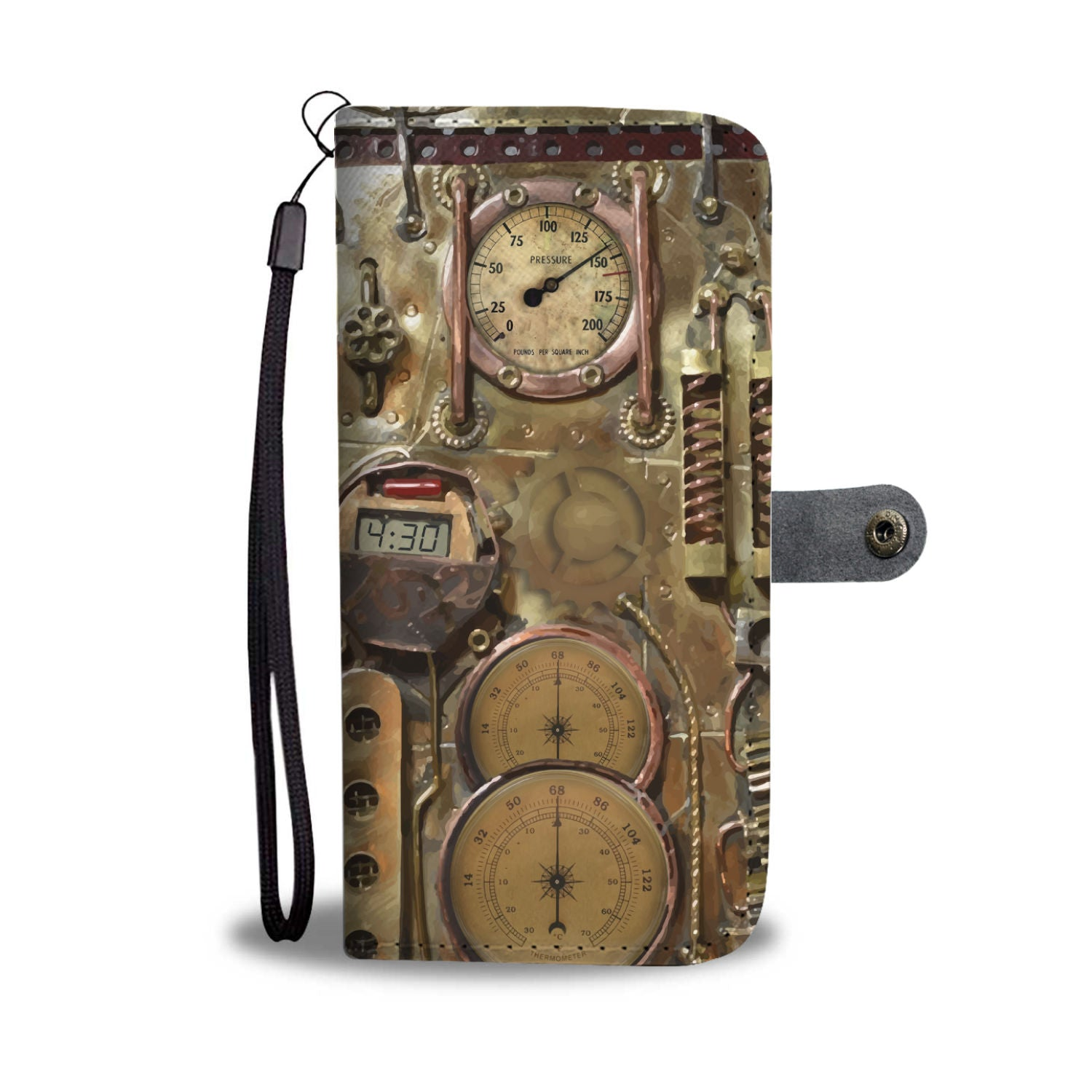 Bronze Steampunk Phone Wallet