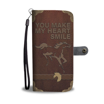 Heart Smile Horse Phone Wallet
