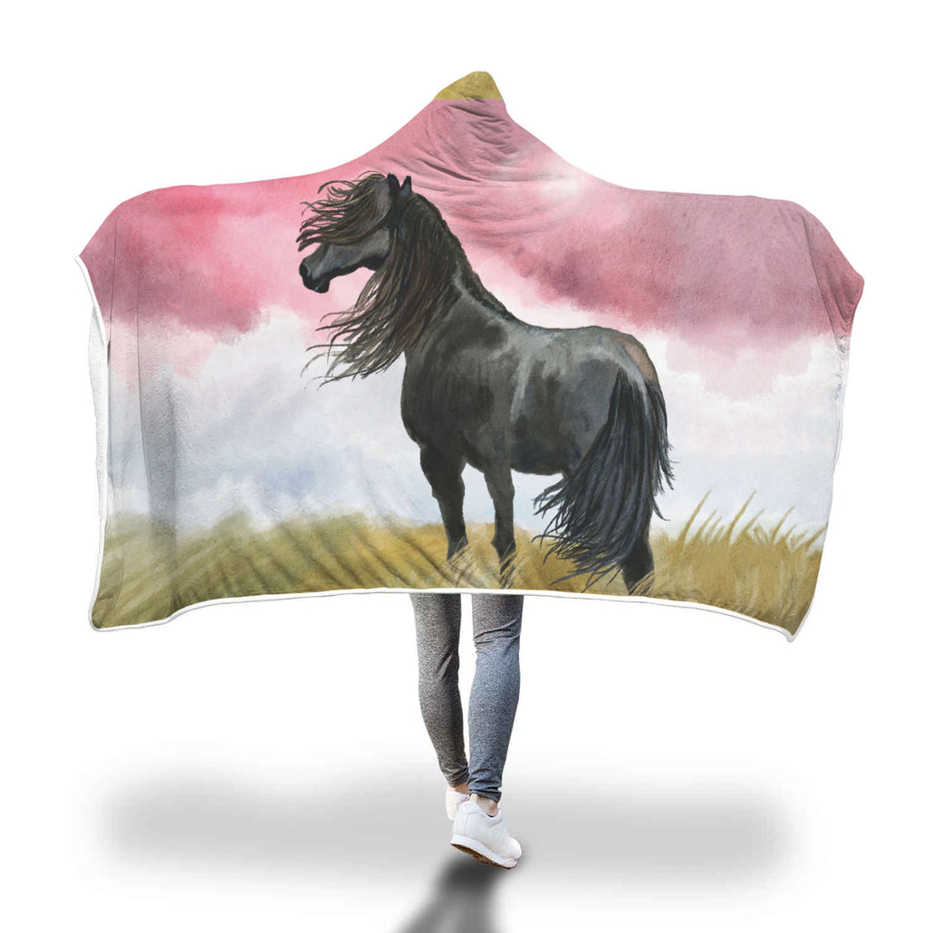 Art Horse Hooded Blanket
