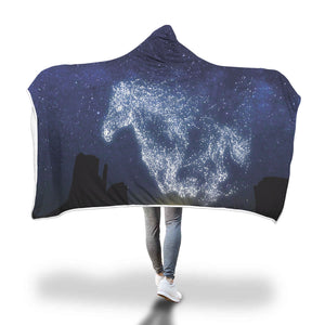 Galloping Horse Hooded Blanket - Hello Moa