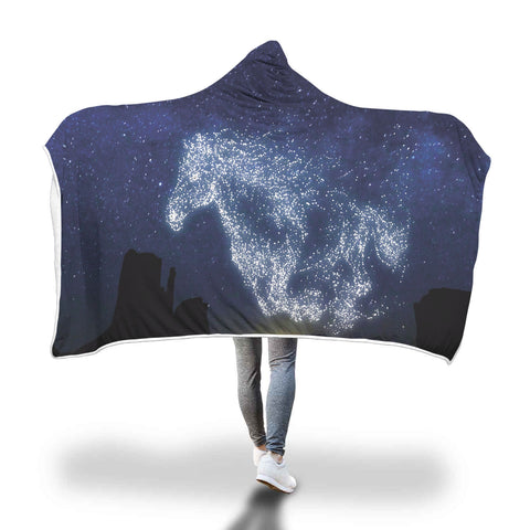 Galloping Horse Hooded Blanket