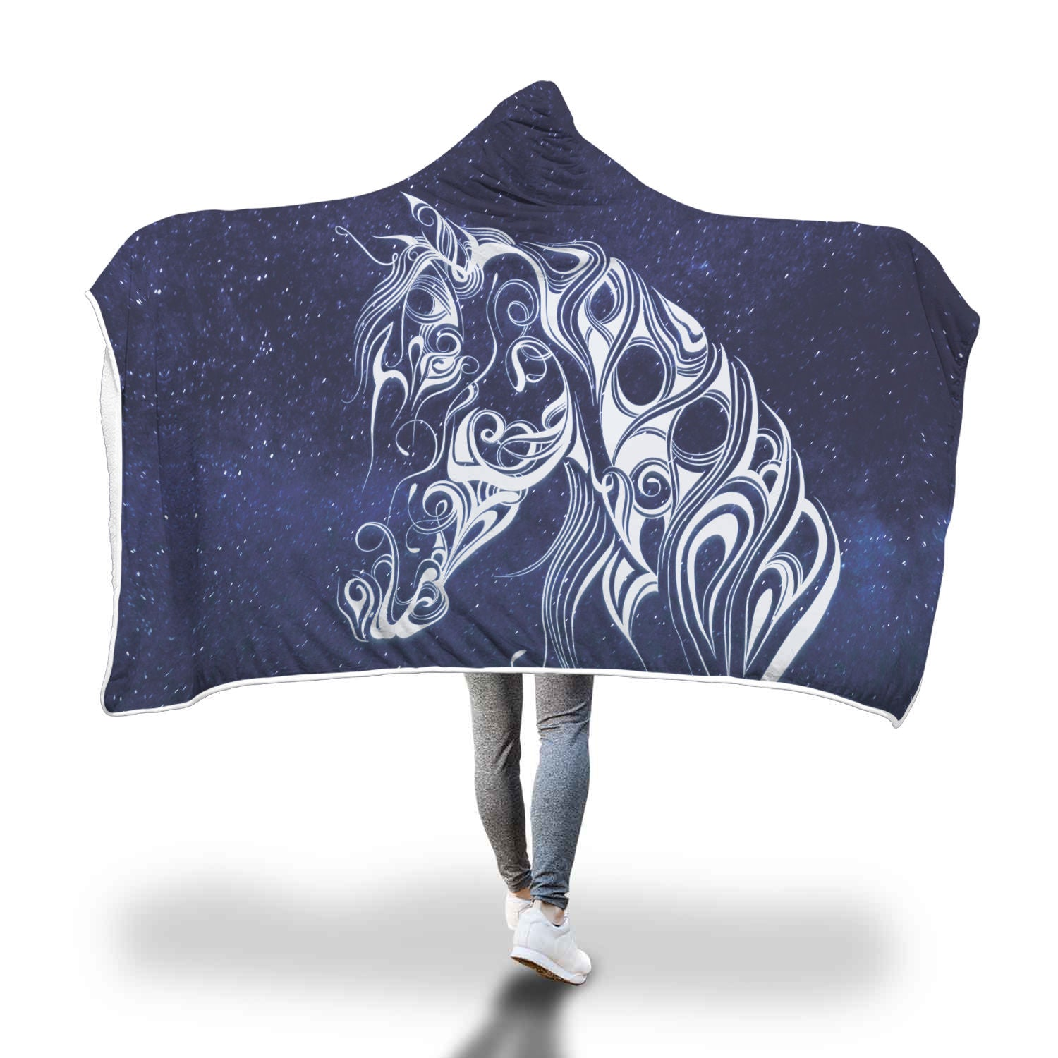 Night Horse II Hooded Blanket - Hello Moa