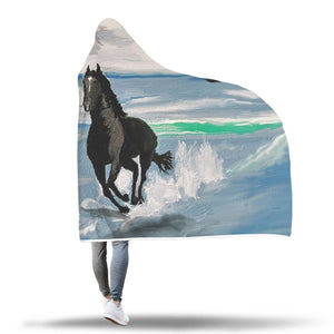 Seascape Horse Hooded Blanket - Hello Moa
