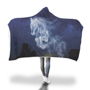 Star Horse Hooded Blanket