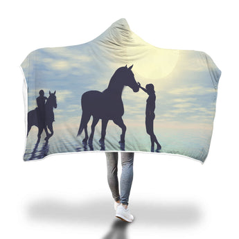Water Horse Hooded Blanket
