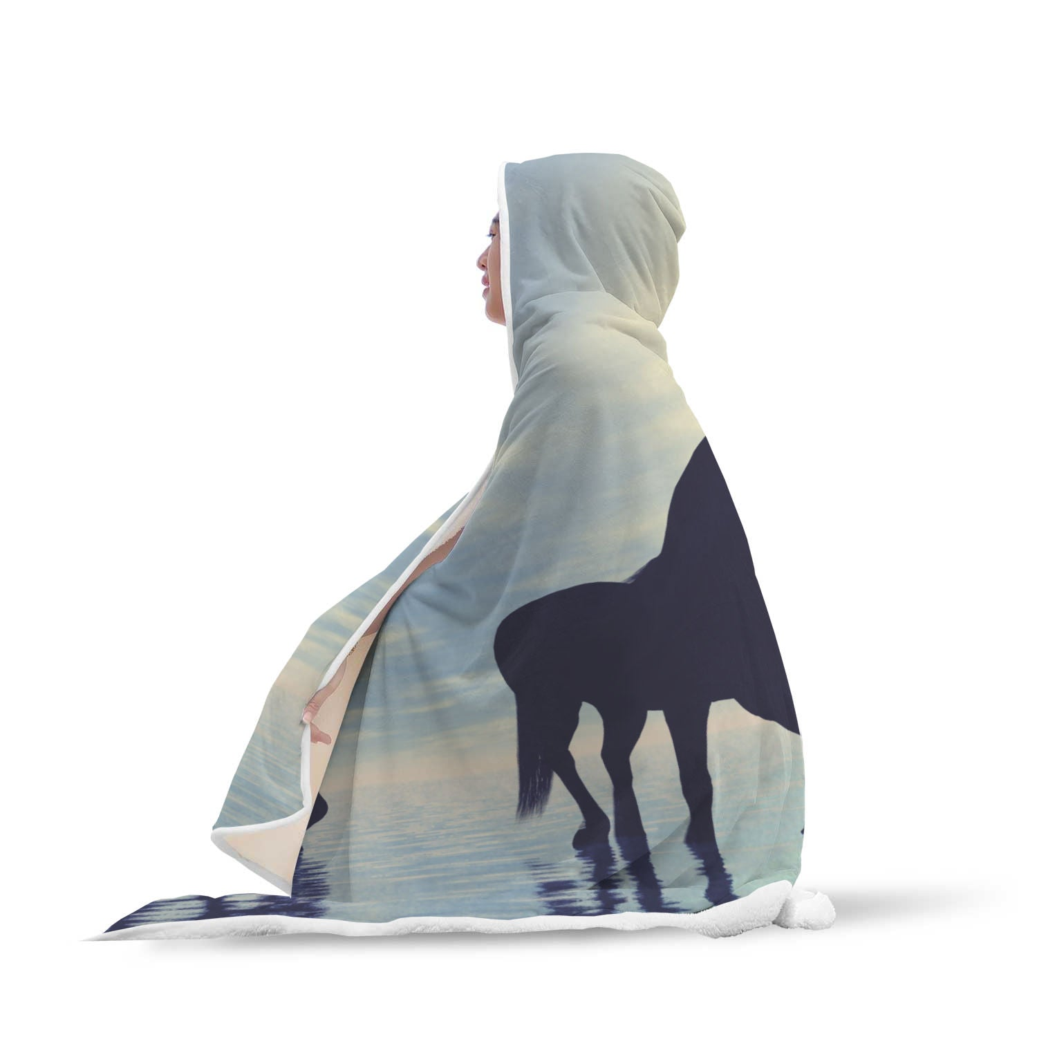 Water Horse Hooded Blanket - Hello Moa