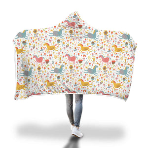 Happy Horse Hooded Blanket - Hello Moa