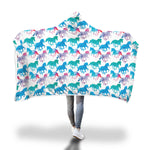Pastel Colored Horse Hooded Blanket - Hello Moa