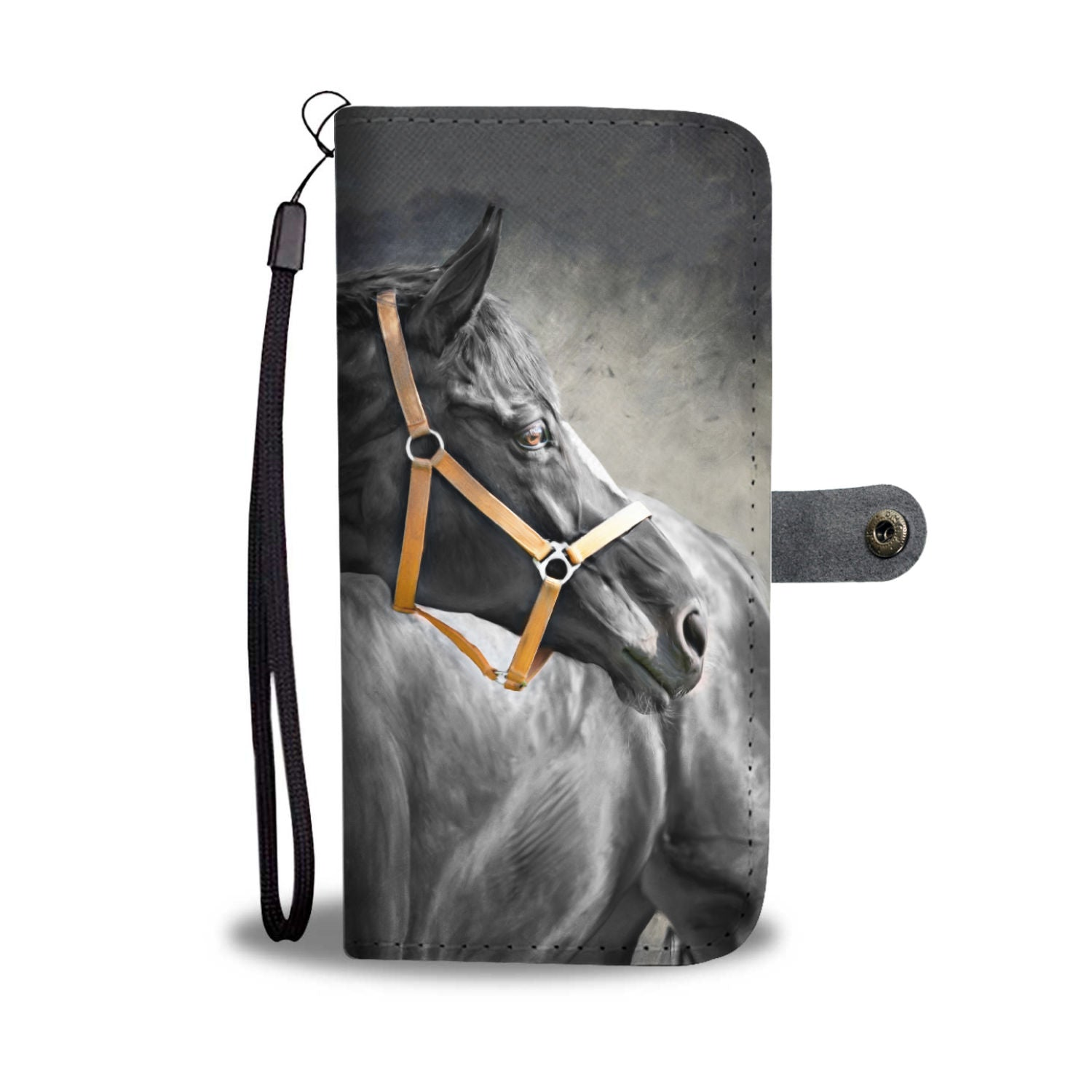 Black Stallion Phone Wallet