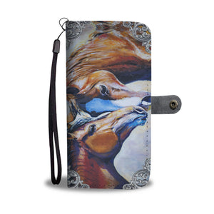 Horse Pair Phone Wallet - Hello Moa