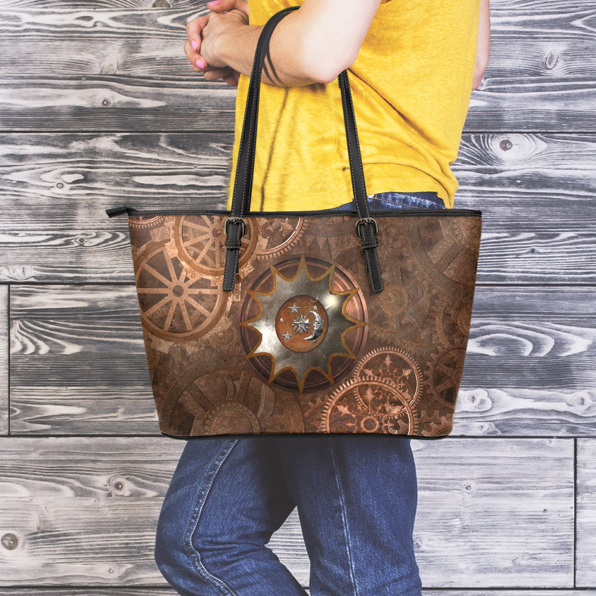 Steampunk Moon Large Tote - Hello Moa