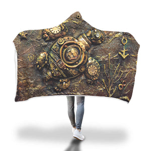Steampunk Turtle Hooded Blanket - Hello Moa