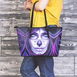 Purple Sugar Skull Large Tote