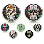 Sugar Skull Glass Stud Earrings