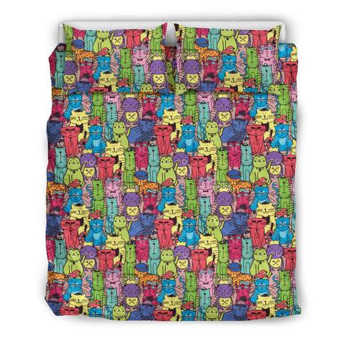 Image of Cartoon Cat Bedding Set