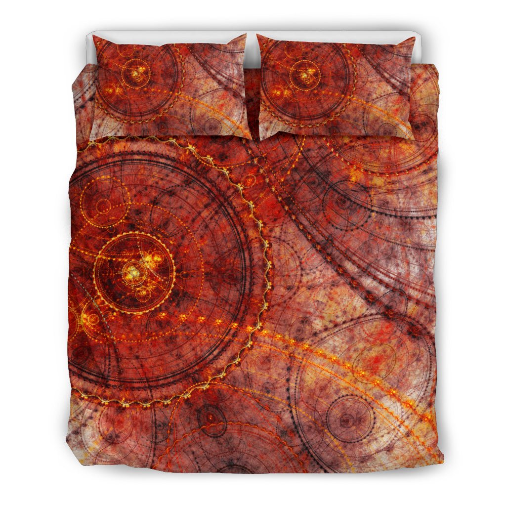 Red Dial Bedding Set