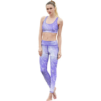 Purple Stripe Fitness Leggings