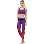 Purple-Red Fitness Leggings