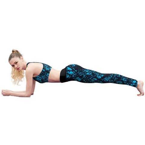 Image of Blue Web Fitness Leggings