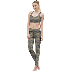 Tibetan Leaf Fitness Leggings