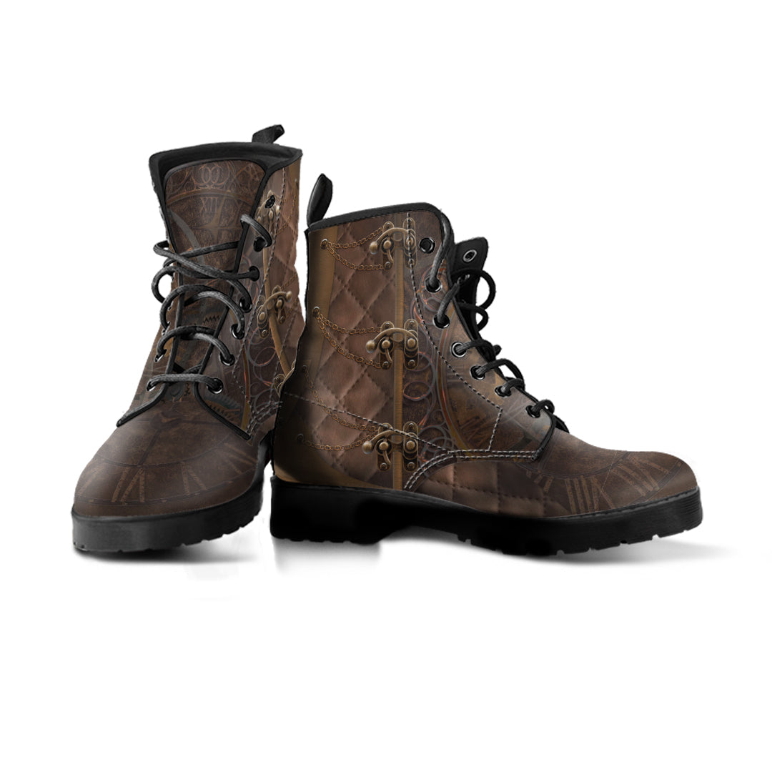 Steampunk Rustic Brown Boots (Men's) - Hello Moa