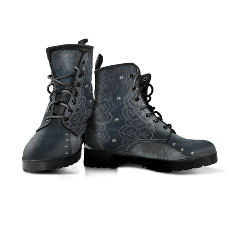 Express Navy Lace Boots (Women's)