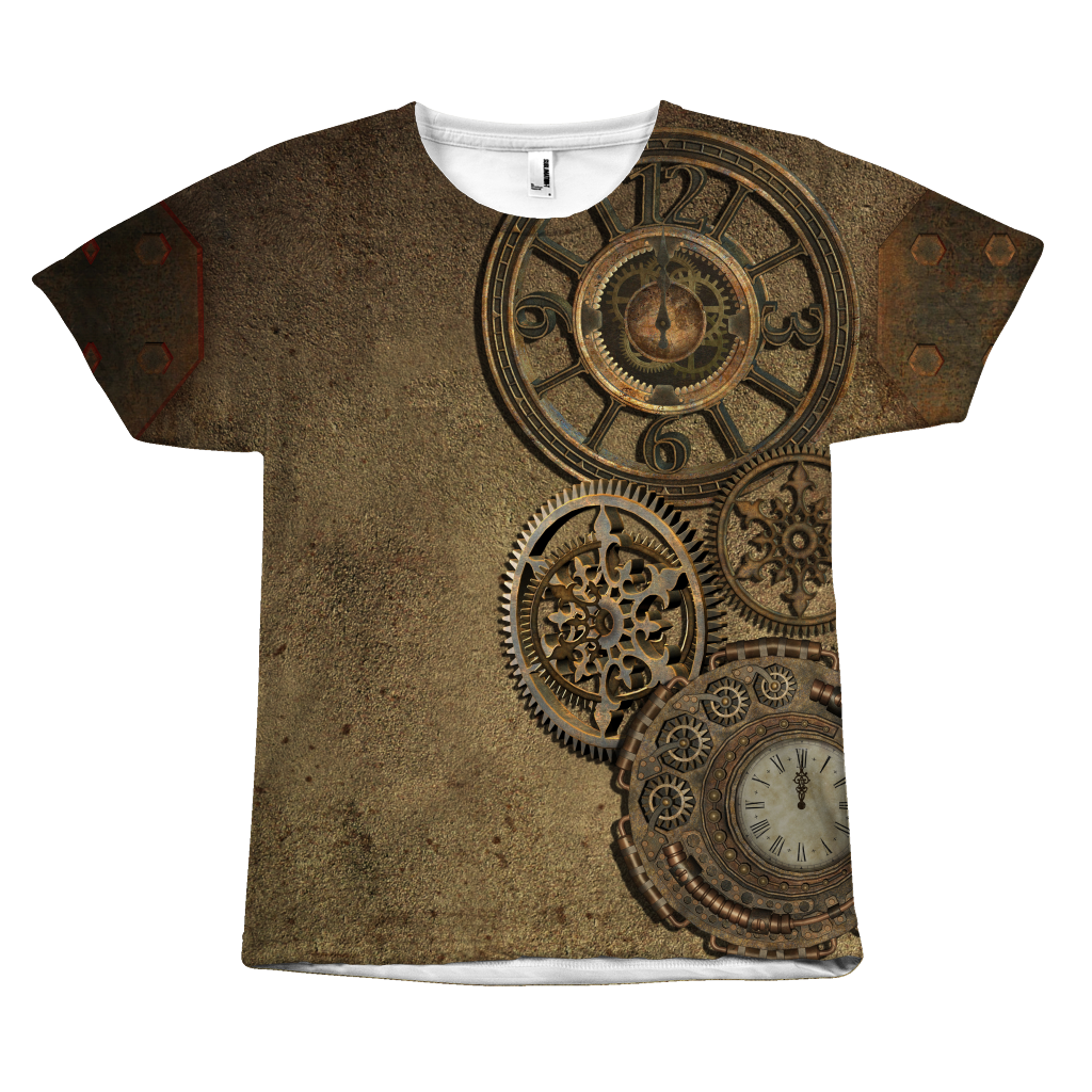 Steampunk Rusted Clocks Tee - Hello Moa