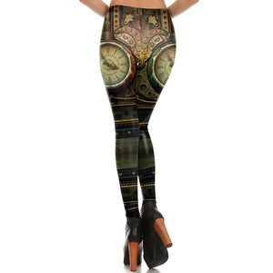 Steampunk Clocks & Cogs Leggings - Hello Moa