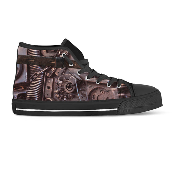 Steampunk Circuit 3 Canvas Shoes