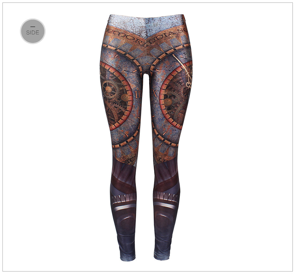 Steampunk Mechanical Gear Leggings - Hello Moa