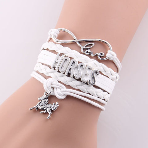 Image of Horse Love Leather Bracelet