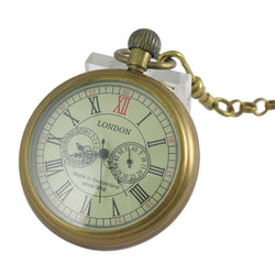 Antique Old Copper Mechanical Pocket Watch