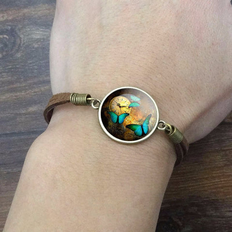 Image of Steampunk Butterfly Bracelet