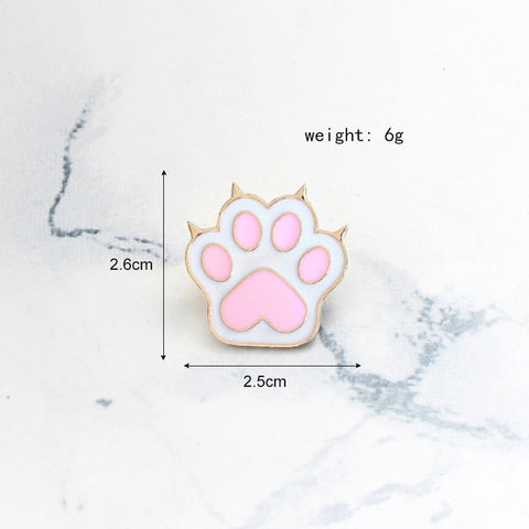 Image of Cute Pink Cat Paw Pin