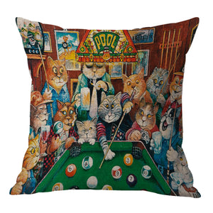 Cartoon Cat Pillow Covers - Hello Moa