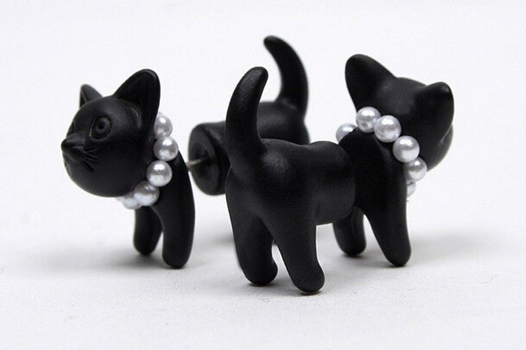 Kitty Cat Cute Stud Earrings